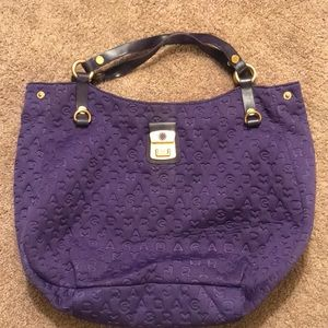 Marc by Marc Jacobs logo purple tote